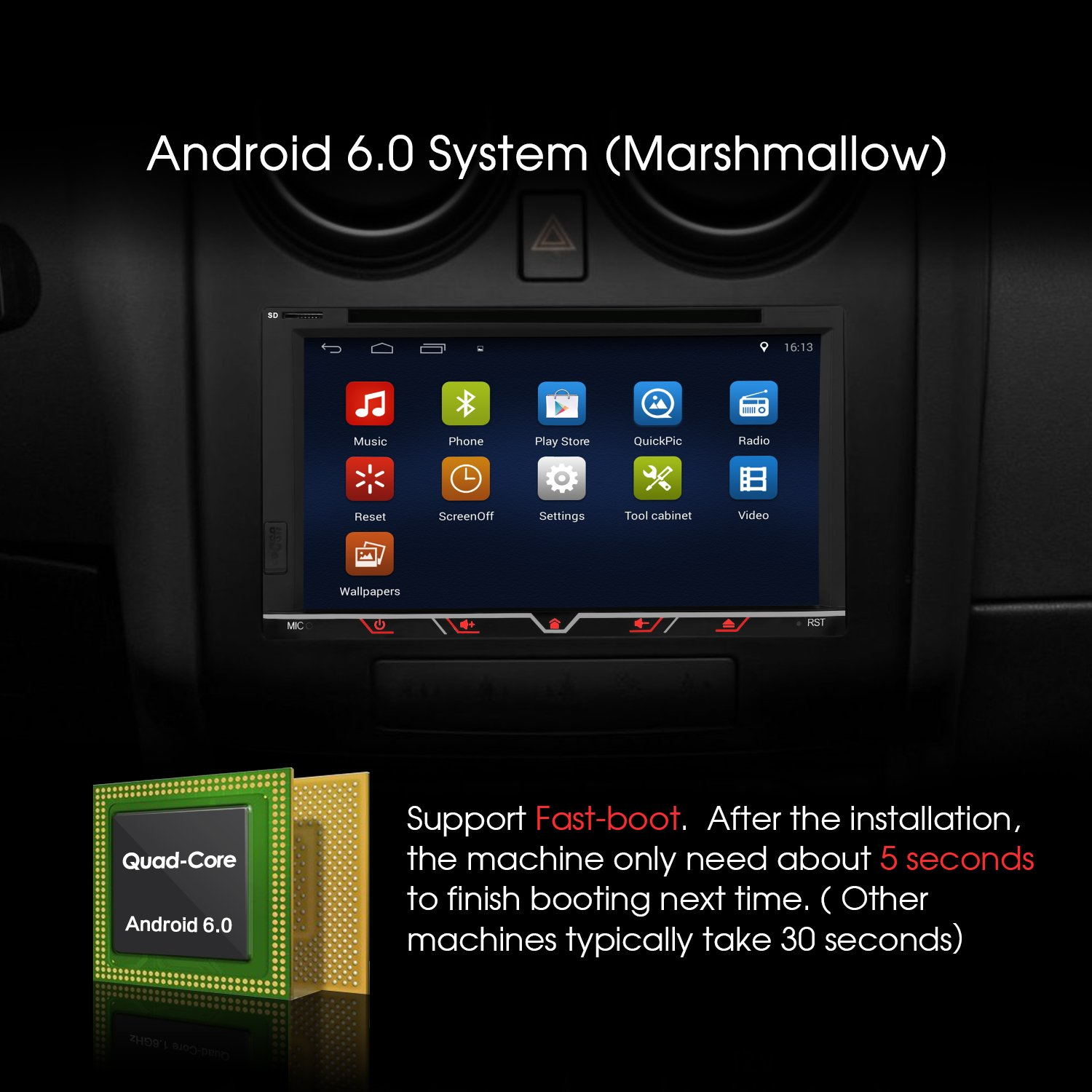Amazon com 6 95 inch android car stereo 2 din in dash bluetooth dvd cd player with gps navigation radio support 64gb usb sd 3g wifi obd2