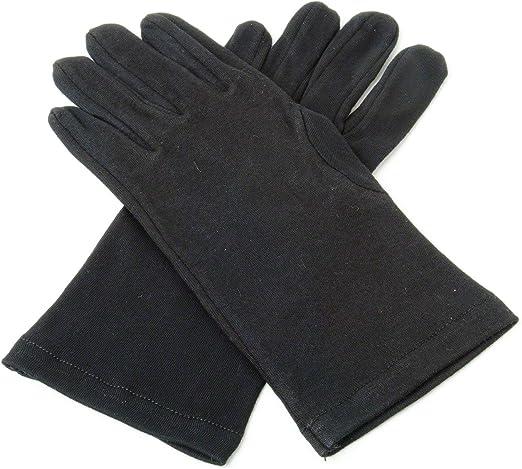 Negro algodón guantes de caballeros S: Amazon.es: Jardín