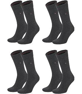 5b8304fe2b TOMMY HILFIGER Herren Classic Casual Business Socken 4er Pack verschiedene  Farben (anthrazit melange (030
