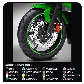 Pegatinas llantas ruedas de motos tiras adhesivas para rueda llantas pegatinas (VERDE NINJA): Amazon.es: Coche y moto