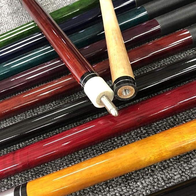 Snooker Cue Stick Mango de Cuero de Cuero de 10 mm Línea de Lino Bolsa Color Aleatorio Hilo de Lino: Amazon.es: Deportes y aire libre