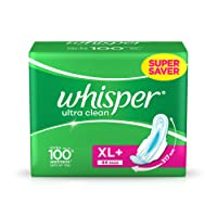 Whisper Ultra Clean Sanitary Pads XL Plus (44 Count)