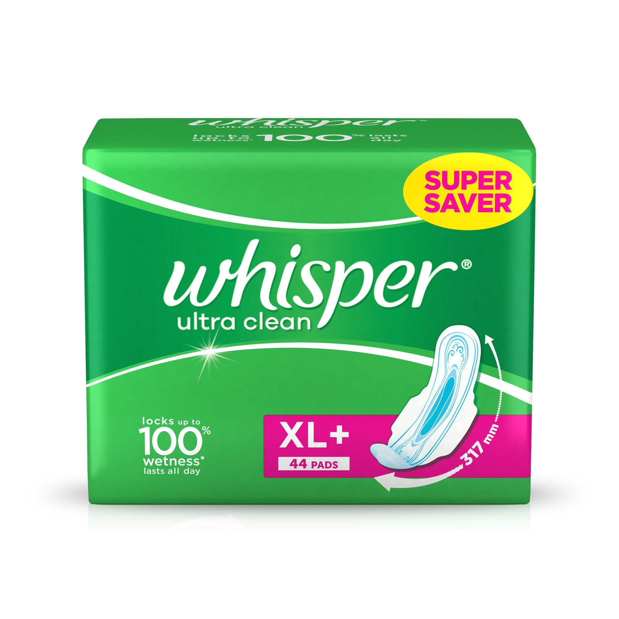 Whisper Ultra Plus Sanitary Pads XL Plus (44 Count) product image