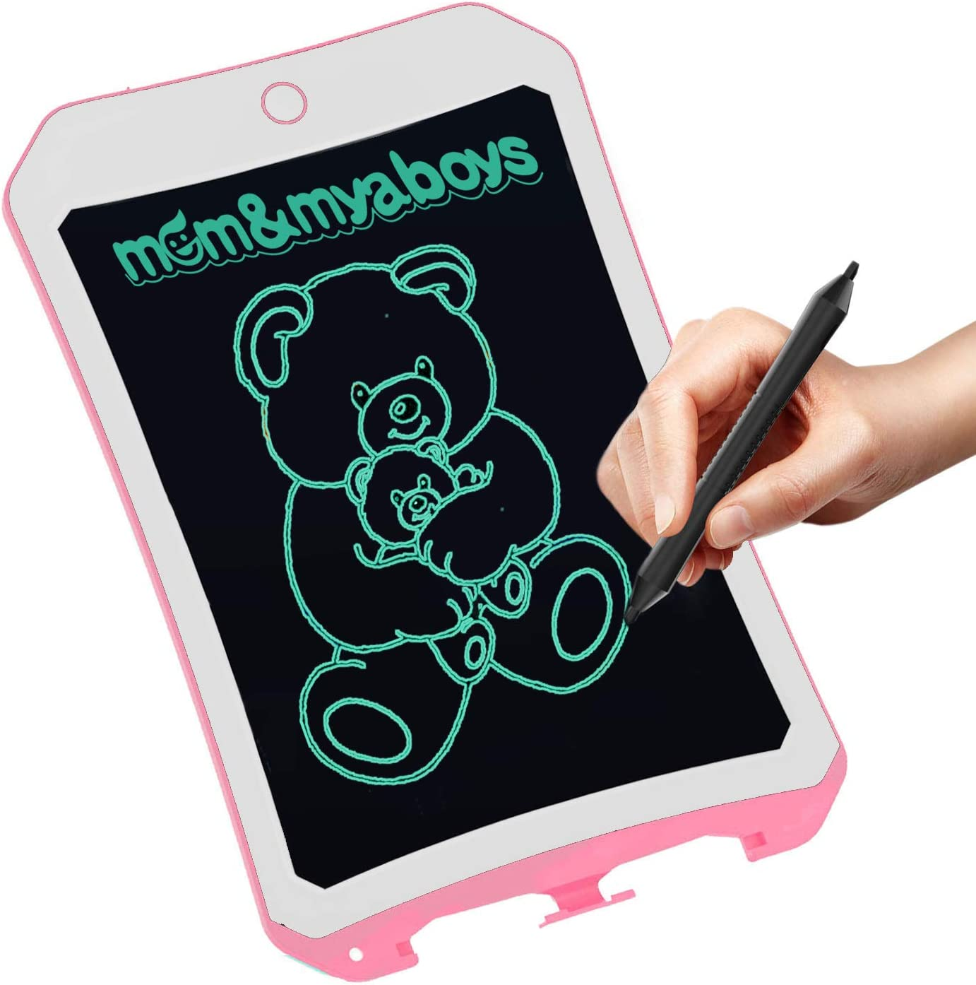 8.5 Zoll Writing &Drawing Board Doodle Board Toys für Kids, Mom&Myaboys Birthday Gift für 4-5 Years alt Kids & Adults Lcd Writing Tablet mit Stylus Smart Paper für Drawing Writer (Pink-Whie-9)
