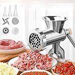 YIYU Manual Meat Grinder Hand Operated Aluminum Alloy Food Processor Multifunction