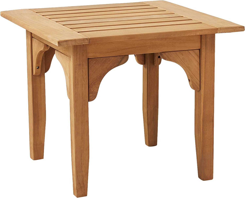 Cambridge Casual Solid Teak Wood Auburn Patio Side Table, Natural