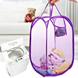 Wecando Foldable Pop-Up Mesh Laundry Hamper with