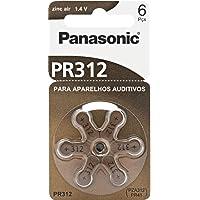 Bateria para Aparelho Auditivo Zinc Air 1.4V/ 130Mah, Panasonic, PR-312BR/300