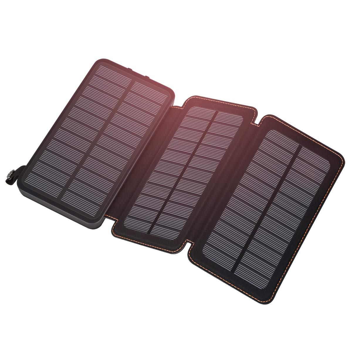 Solar Charger 24000mAh, FEELLE Outdoor Portable Solar Power Bank with Dual 2.1A USB Ports Fast Charge External Battery Phone Chargers Compatible Smart Phones, Tablets - 88Wh