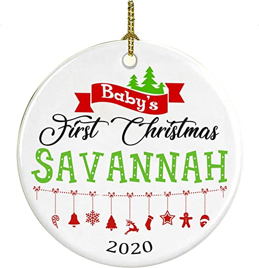 Christmas In Savannah 2020 Amazon.com: Christmas Tree Ornament Decoration Baby First