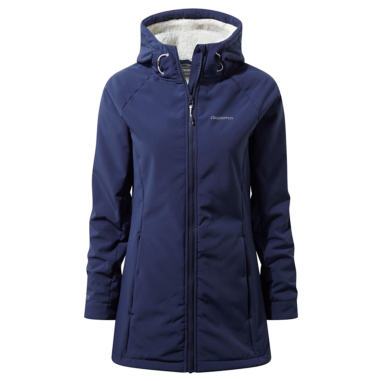 TALLA 8. Craghoppers Ingrid Hooded Chaqueta, Mujer