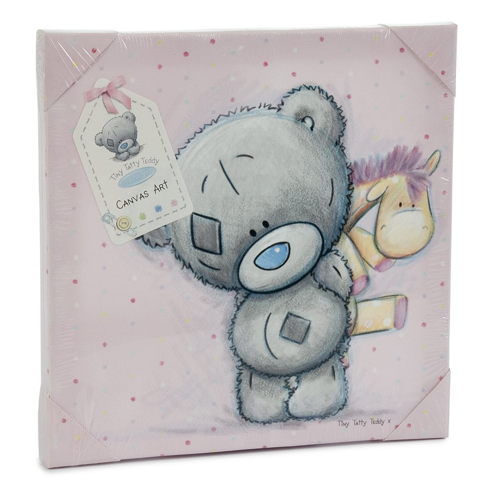 Me to you tiny tatty teddy wall canvas pink amazon baby amipublicfo Images
