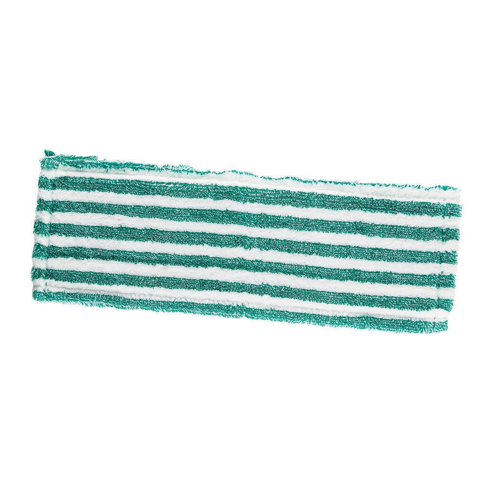 Libman Commercial 119 Microfiber Wet/Dry Floor Mop Refill Pad, Microfiber, 18'' Wide, Green and White (Pack of 6)