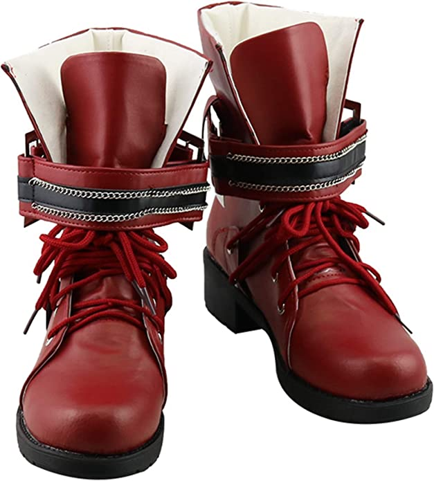 Final Fantasy 7 Remake Tifa Lockhart Cosplay Shoes Woman Ankle Boots Red