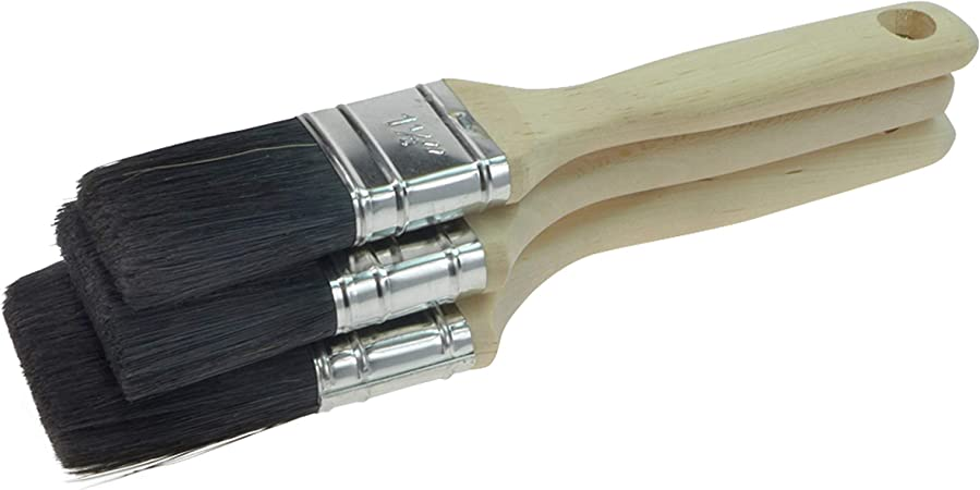 Set de 3 pinceaux plats 35 mm 60 mm M/élange de poils 50 mm