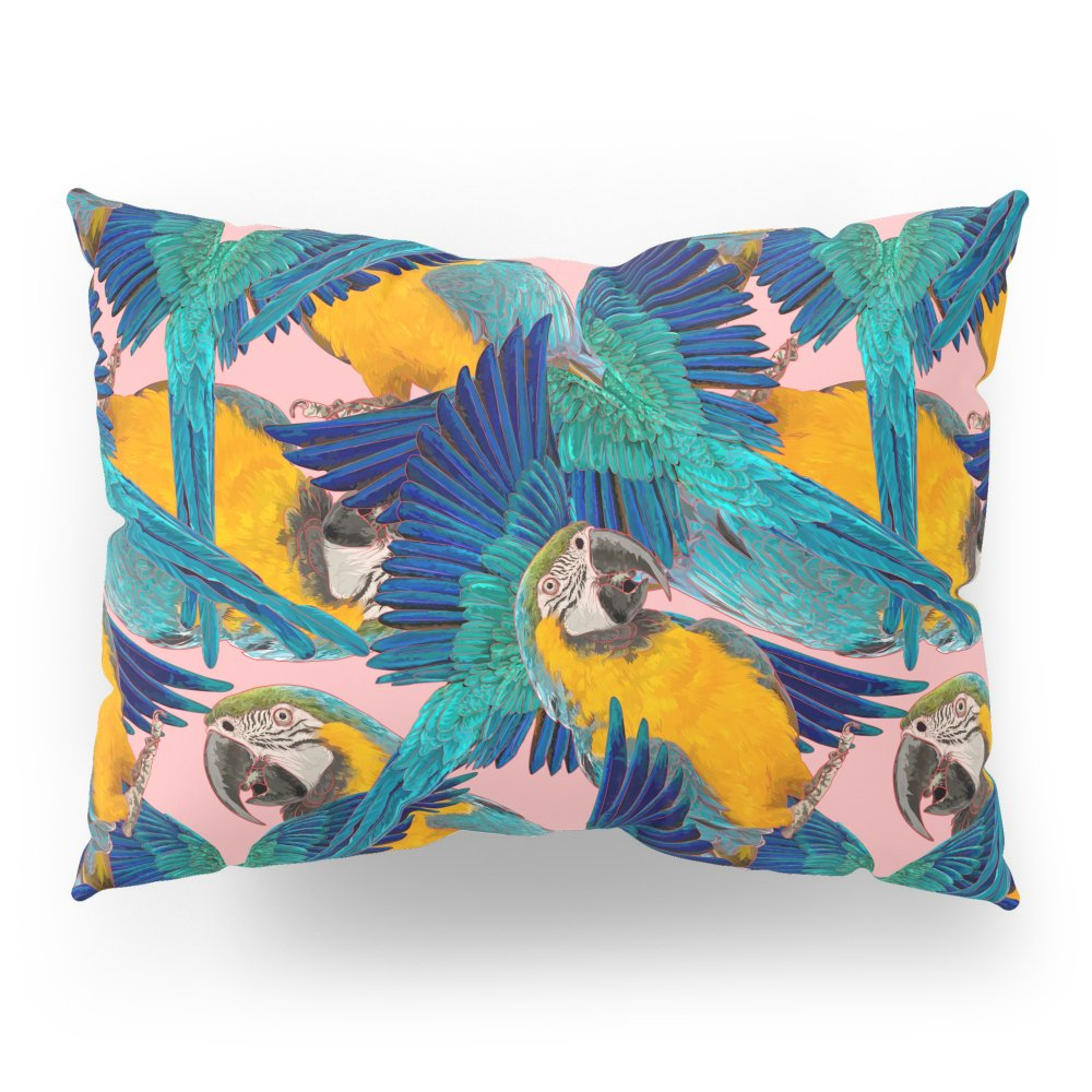 Society6 Ara Parrot Pillow Sham Standard (20'' x 26'') Set of 2