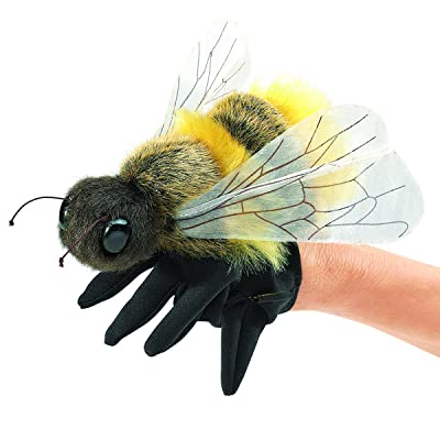 Folkmanis Honey Bee Hand Puppet, Yellow, Black (3028): Toys & Games