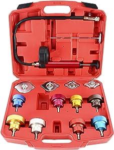 8MILELAKE 14pc Radiator Pump Pressure Leak Tester Kit Vacuum Pressure Cooling System Tester