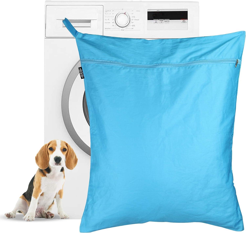 Bolsa de lavandería para mascotas | Bolsa de lavado Petwear | Removedor de pelo para perros y gatos para lavadoras | Gran tamaño adecuado para camas, juguetes, collares | Pukkr