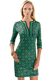 af1ecc32706 Gretchen Scott Jersey Split Neck Dress - Bombay Taj