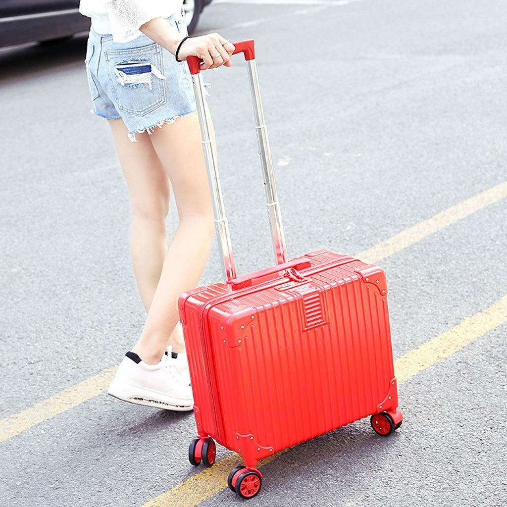 トロリーケース- 女性の小型レトロの小さいトロリースーツケース、普遍的な車輪の男性のパスワードボックスのスーツケース18インチ (Color : Orange, Size : 18in) B07VFFDPD6 Orange 18in
