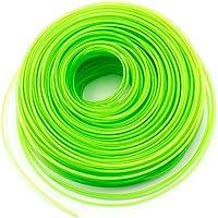 vhbw Câble de coupe 2mm vert 100m pour tondeuses à gazon et débroussailleuses par ex. Bosch, Einhell, Gardena, Husqvarna, Makita, Stihl, Wolf Garten