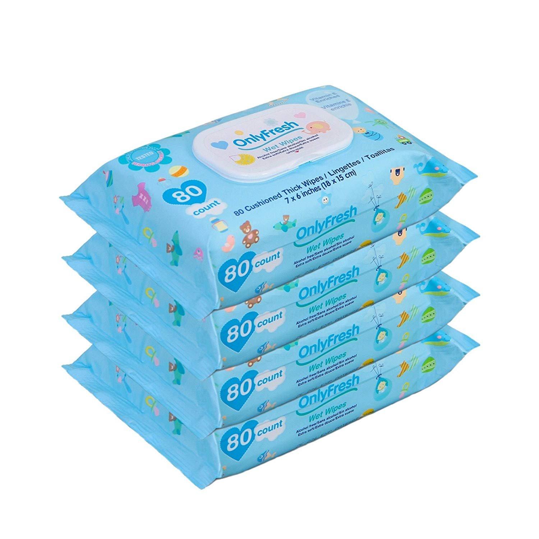 Amazon.com : Baby Wipes, 320 Count, Hypoallergenic, Sensitive Skin, 4 Flip-Top Packs - Boys : Baby
