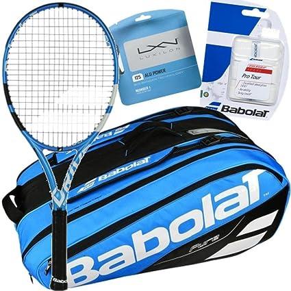 Garbine Muguruza Pro reproductor Babolat Pure Drive Raqueta de tenis y Gear Bundle Pack