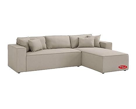 Amazon.com: Sofá seccional, sofá de lino en forma de L con ...