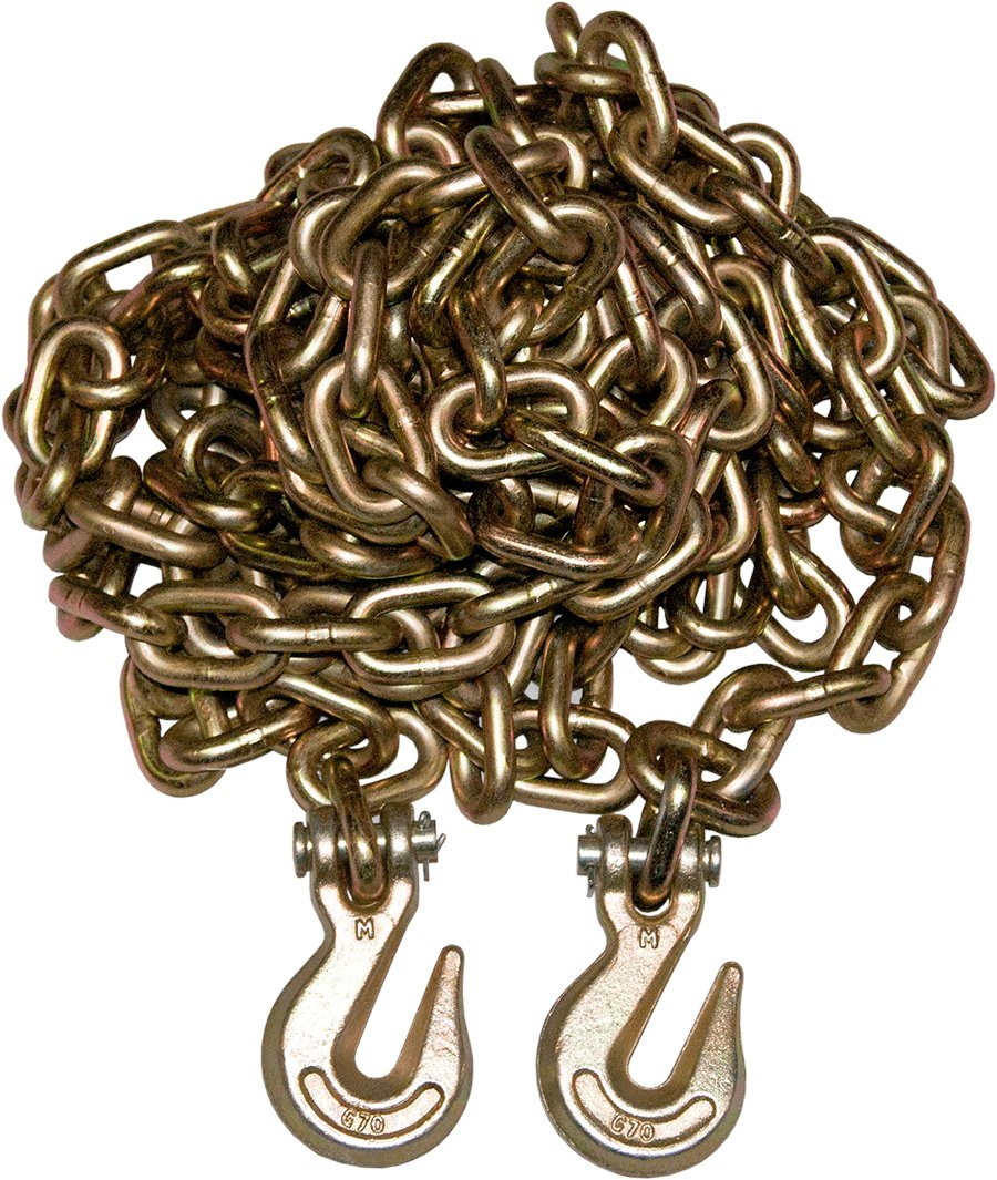 4 Pack 3/8'' 20' G70 Tow Chain Tie Down Binder Flat With Grade 70 Hooks by GPD (Image #2)
