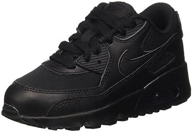 buy popular 06490 d2ffb Nike Air Max 90 Mesh (PS), Baskets garçon, Noir Black, 29.5