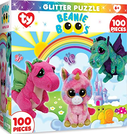Amazon.com  MasterPieces Ty Beanie Boo Fairytale Club - 100 Piece Glitter  Kids Puzzle  Toys   Games 41d0e2cf1097
