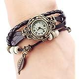 PromiseU Women's Bracelet Tree leaf Decoration Quartz Wrist Watch
