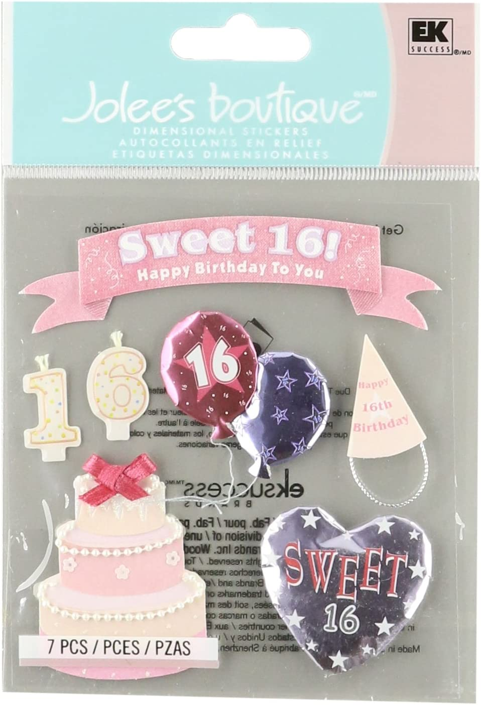Sweet 16 Scrapbooking Cardstock and Stickers Set