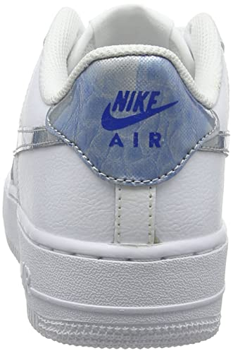 Nike Mädchen Air Force 1 (Gs) Gymnastikschuhe weißazurblau