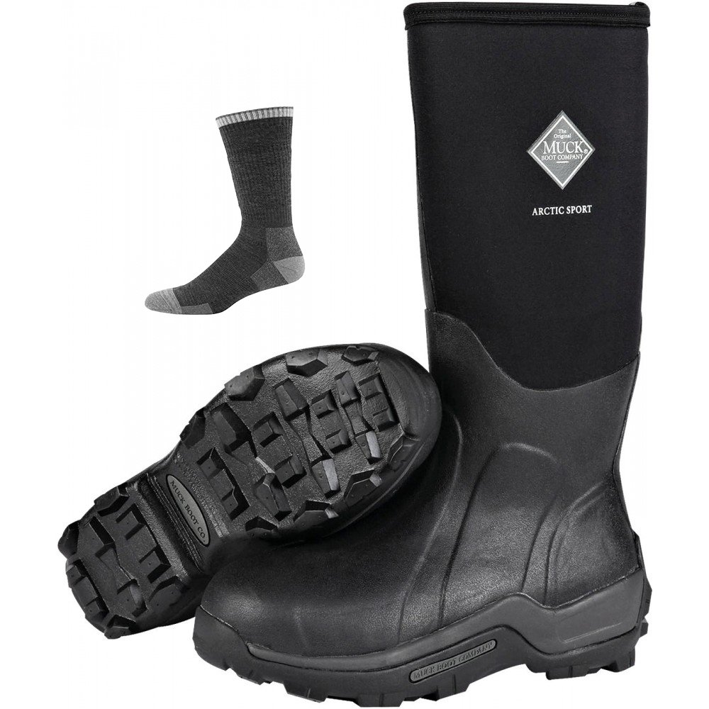 Muck Boot Muck Arctic Sport Boots Black w/Socks -