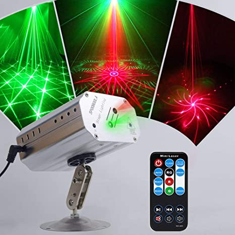 Party Lights Disco Lights TONGK Stage Lights Led Projector Strobe Lighting  with Remote Control for Birthday KTV Bar Karaoke Dancing Pub Christmas