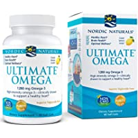 Nordic Naturals Ultimate Omega, Lemon Flavor - 1280 mg Omega-3-60 Soft Gels - High-Potency Omega-3 Fish Oil Supplement…