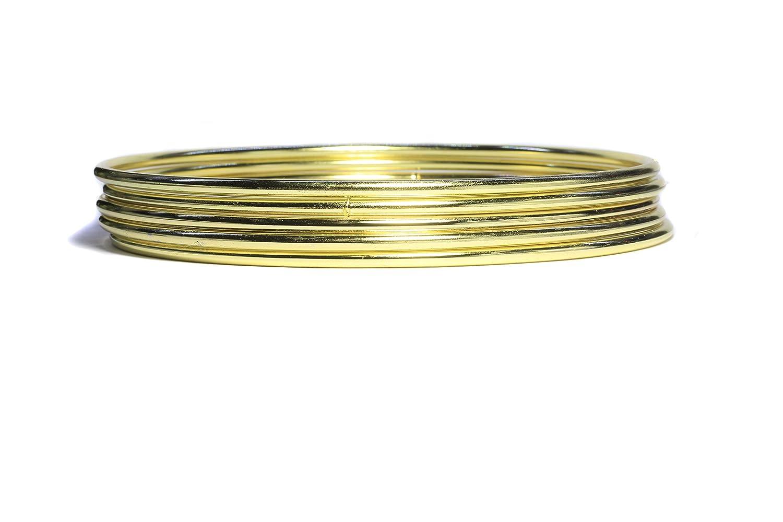 7-inch gold Set of 5pcs Gold Dream Catcher Metal Hoops, Bistore Dream Catcher Metal Rings