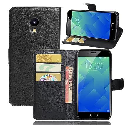 Nadakin Meizu M5/Meizu Meilan M5 Calidad Premium Cartera de Cuero con Carcasa de Teléfono Flip Funda con Soporte Magnetico de Cierre para Meizu ...