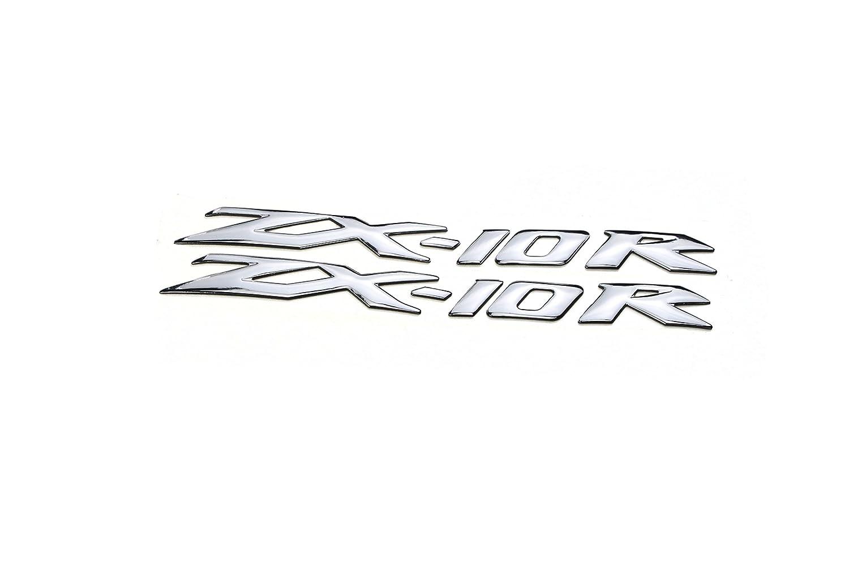 pro-kodaskinオートバイ3d Raiseエンブレムステッカーデカールfor ZX - 10r シルバー K-3M-ZX-10R B01MS90FHF シルバー シルバー