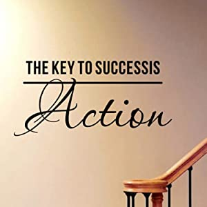 Delma(TM) PVC Wall Sticker Home Decoration Home Quotes Vinyl Decal (The Key to Success)