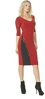 product image for Eva Varro Women's Curved Metal Trim Insert Dress