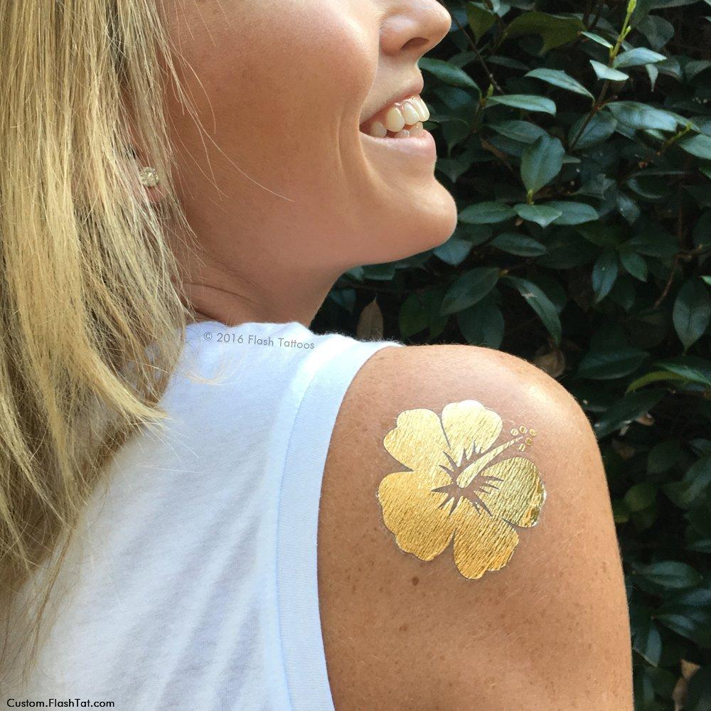Amazon Hibiscus Flower Set Of 25 Premium Waterproof Metallic