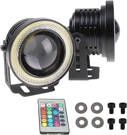 TOOGOO 2 Piezas RGB Proyector de 3,5 Pulgadas LED DRL Bombillas de ...