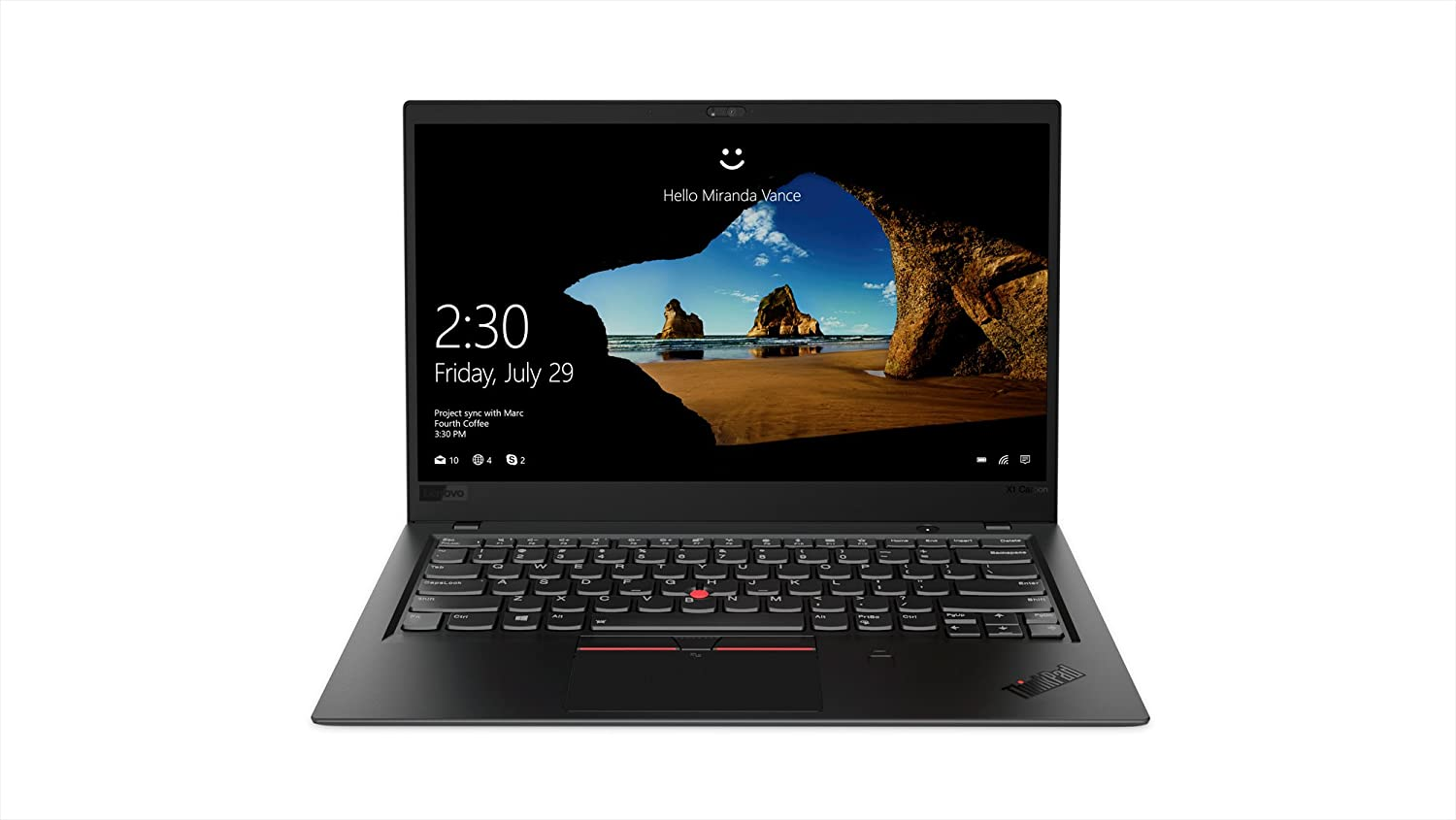 Lenovo ThinkPad X1 Carbon Laptop, High Performance Windows Laptop, (Intel Core i7, 16 GB RAM, 512GB SSD, Windows 10 Pro), 20KH002JUS