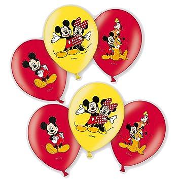 Mickey Mouse Globos de Fiesta | 6 Piezas | Disney Decoración Niños Cumpleaños