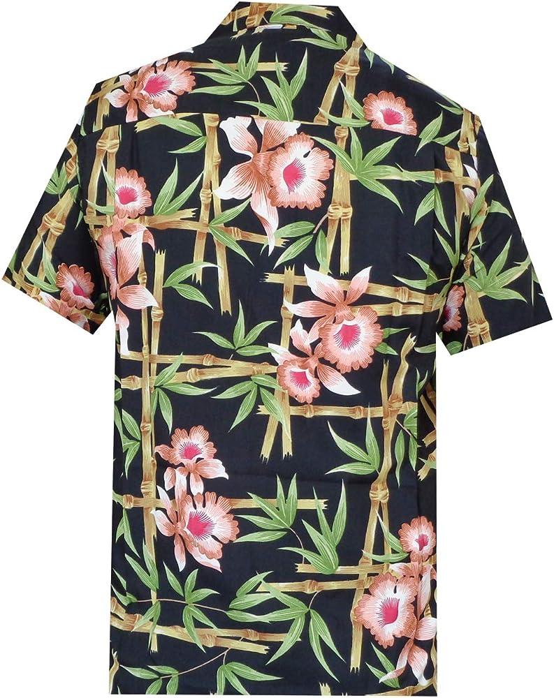 ALVISH - Camisas hawaianas de flamenco rosa para hombre, para playa, fiesta, casual, acampada, manga corta, crucero - Negro - X-Large: Amazon.es: Ropa y accesorios