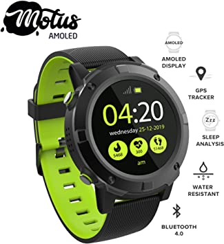 Motus Amoled [reloj deportivo Smartwatch] Pantalla AMOLED, reloj ...