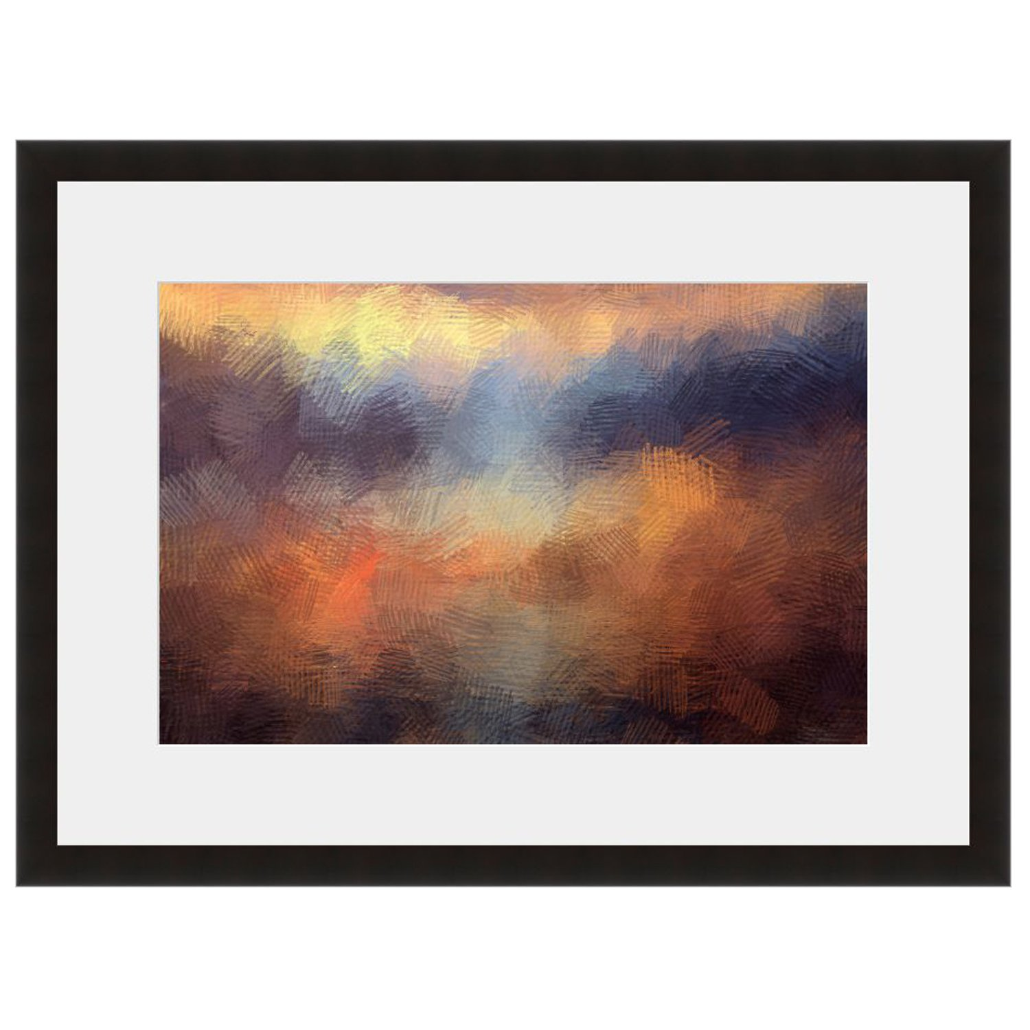 eFrame Fine Art | Abstract Sunset by Keren Lynn 16'' x 24'' Framed and Unframed Wall Art for Wall Decor or Home Decor (Black, Brown, White Frame or No Frame) by eFrame